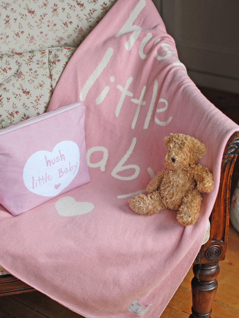 Hush Little Baby Blanket By Diddywear Notonthehighstreet Com