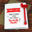 Personalised Hen Party Gift Cocktail Cards Pack Of Four