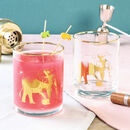Exotic Elephant Gold Cocktail Tumblers