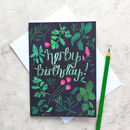 'Herby Birthday' Botanical Card