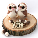 Needle Felted Owl Wedding Cake Topper