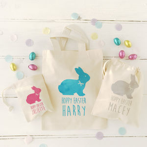 Personalised Flock Bunny Easter Bag