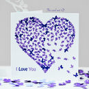 I Love You Birthday Card. Butterfly Love Card