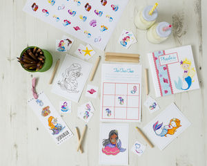 Personalised Mermaid Activity Bundle - stickers