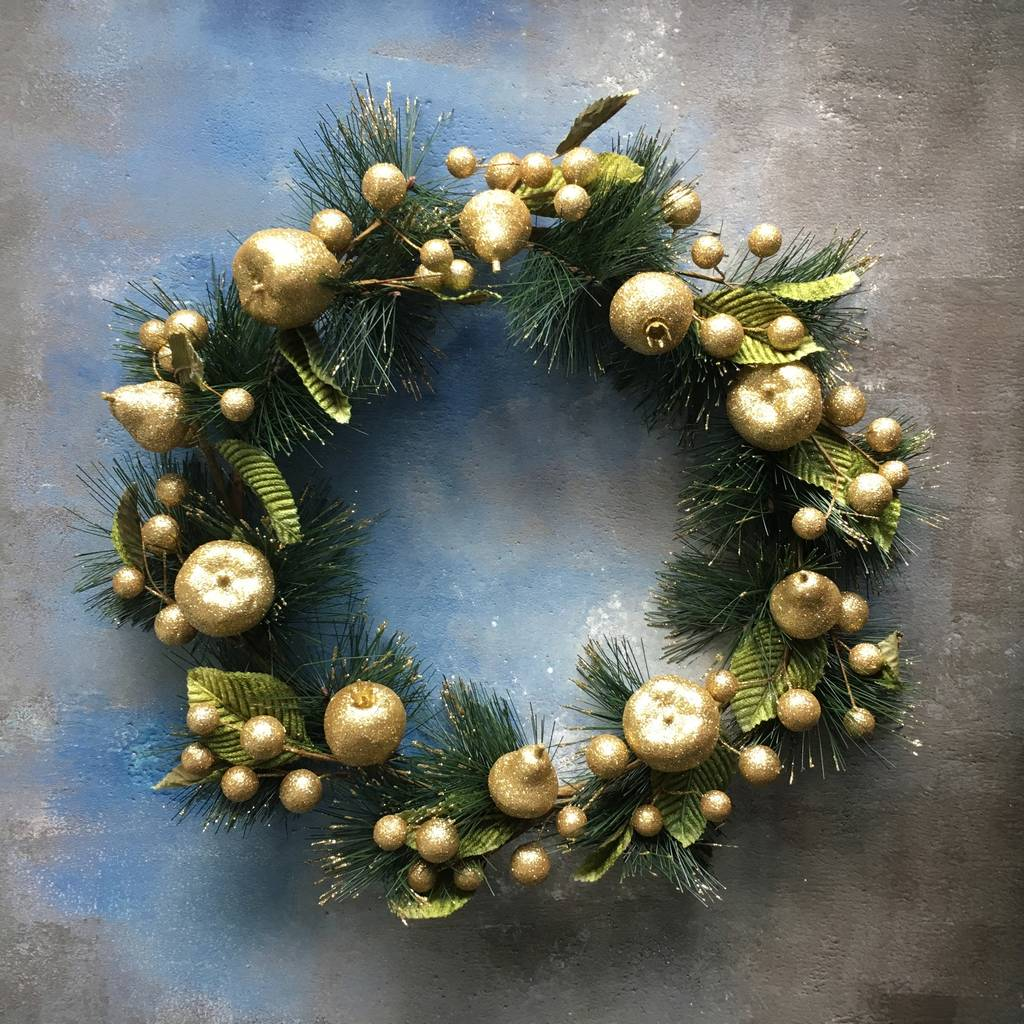 Gold Fruit Wreath