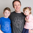 Personalised Dad And Child Handprint T Shirt Set