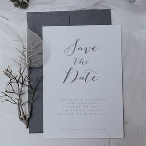 Bliss Grey Save The Date - save the date cards