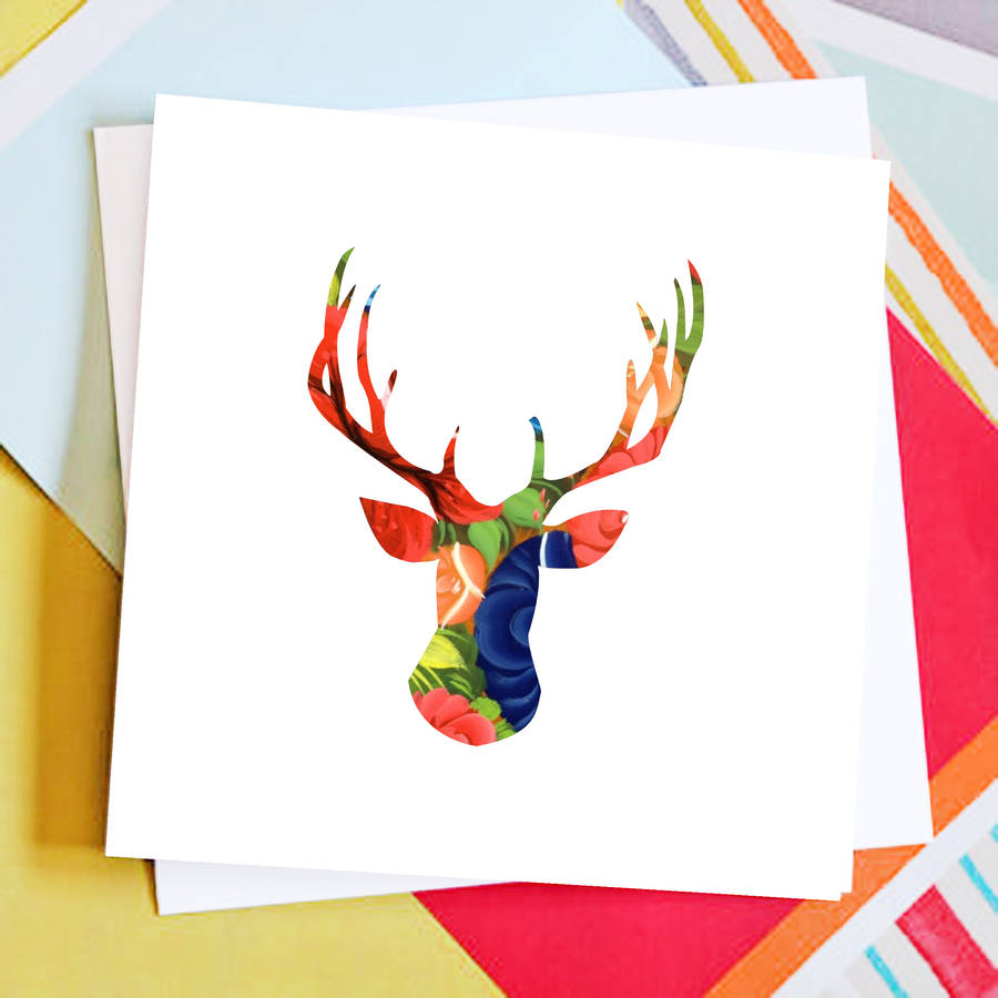 Reindeer Christmas Card Pack By Rabal