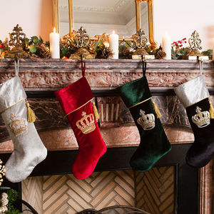Luxury Velvet Regal Festive Stocking Collection - stockings & sacks