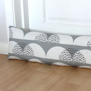 Cumulus Cloud Print Draught Excluder