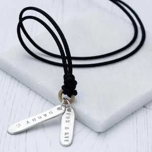 Men's Personalised Name Tag Necklace