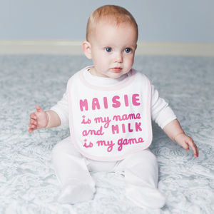 Personalised Baby Milk Bib - bibs
