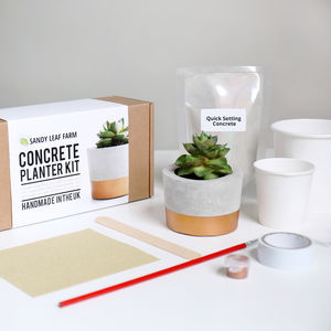 Concrete Planter Making Kit - crafting
