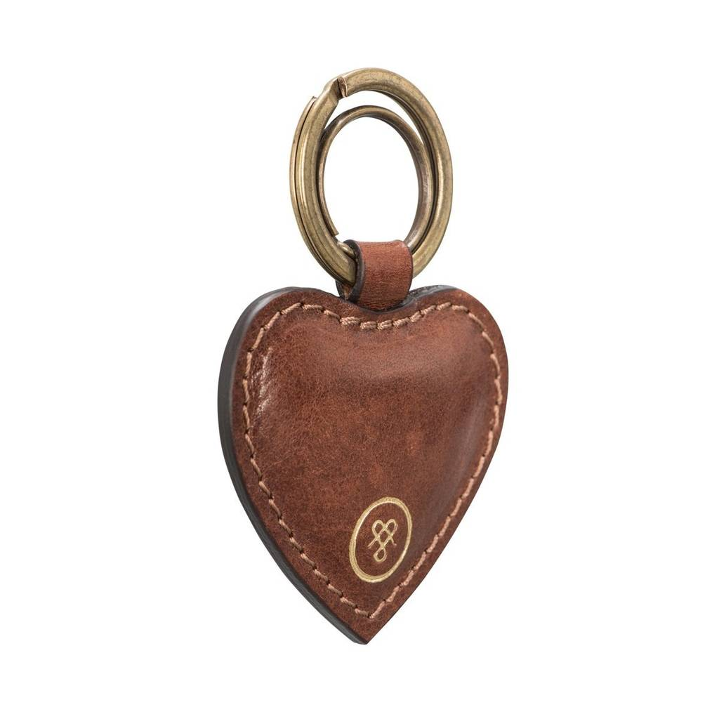 86597d304e5d8b personalised handmade leather heart keyring 'mimi' by maxwell scott ...