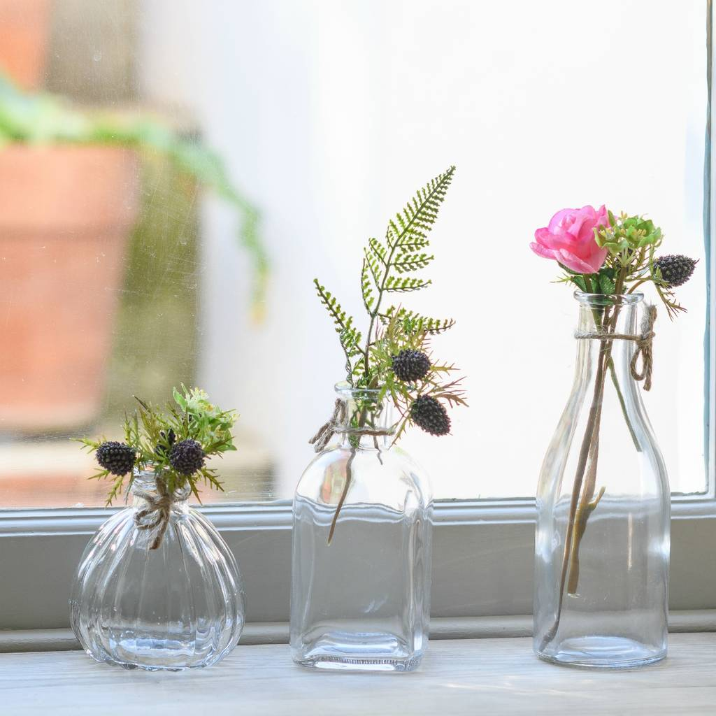 Retro glass bud vases various options by the flower studio retro glass bud vases various options reviewsmspy