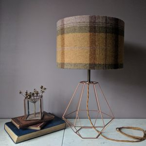 Wool Plaid Wire Lamp - dining room