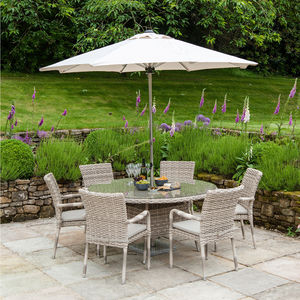 Kool Round Table Dining Set In Two Sizes - garden furniture