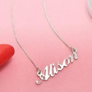 Personalised Carrie Style Name Necklace