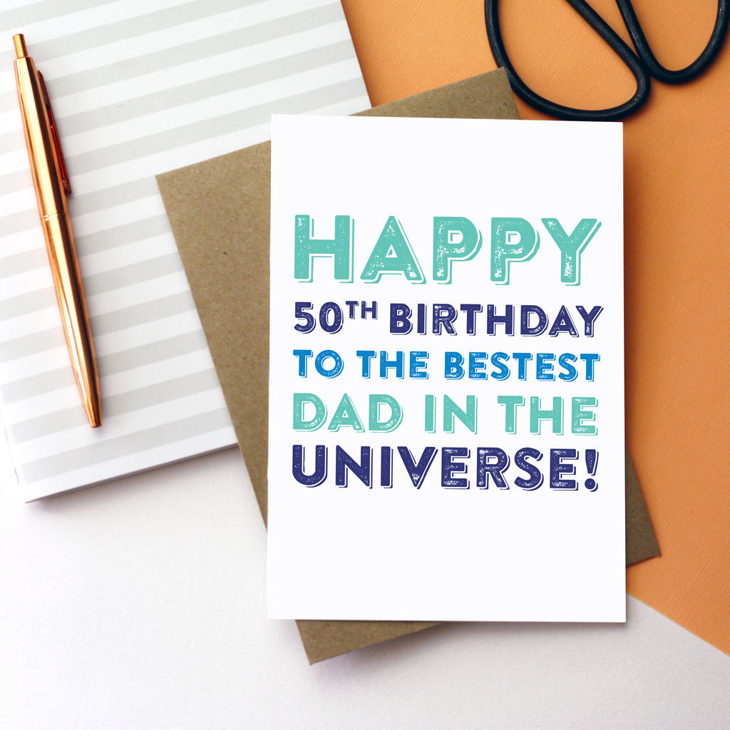Happy Birthday Universe Quotes: Happy Birthday Personalised Best Dad Universe Card By Do
