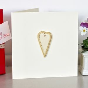 'Heart' Handmade Anniversary Card - cards & wrap