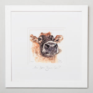 Limited Edition, Cow Print, How Now Brown Cow - canvas prints & art
