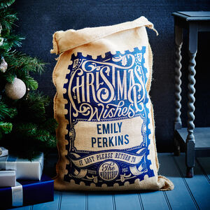 The Blue Rowland Personalised Christmas Sack