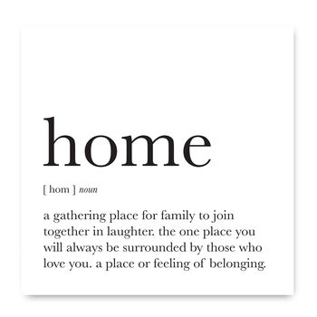 Home Quote Definition Noun Greetings Card