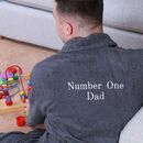 Personalised 'Best Daddy' Towelling Bath Robe