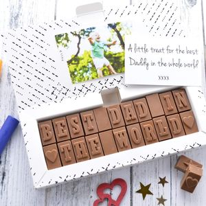 'Best Dad In The World' Chocolate Card
