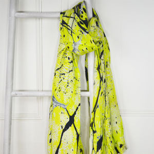 Catseye Marble Print Silk Scarf - scarves