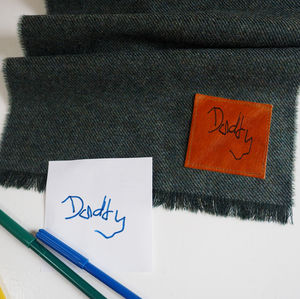 Lambswool Scarf With Handwritten Message - best valentine's gifts for him