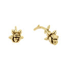 Rose Stud Earrings Gold