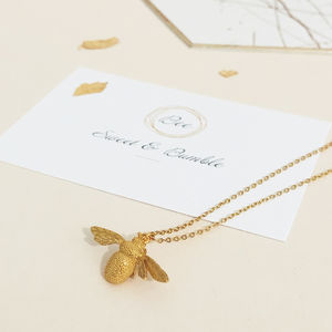 Bee Sweet And Bumble Pendnat Necklace