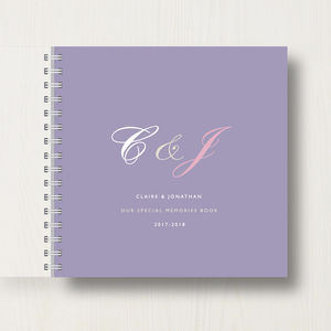 Personalised Couples Memory Book Or Album