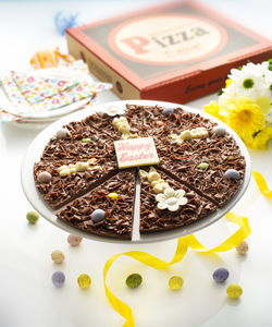 Easter Egg Chocolate Pizza