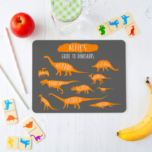 Personalised Dinosaurs Placemat For Children - kitchen