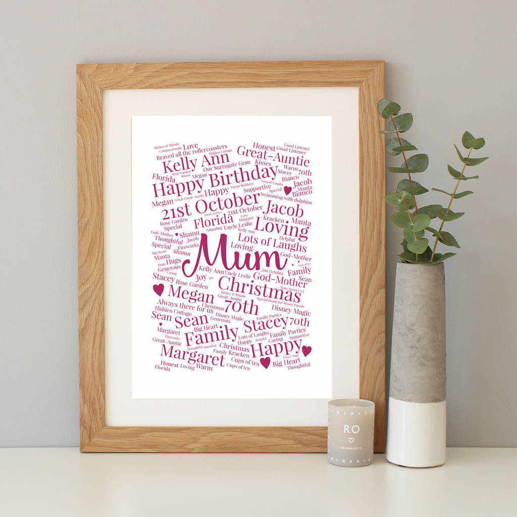 Personalised 70th Birthday Gift By Hope And Love