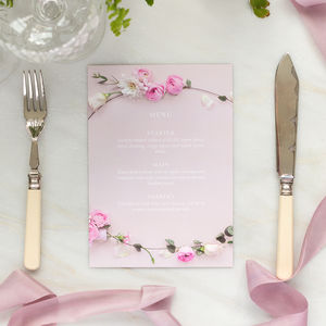 Wedding Menu: Secret Garden Collection