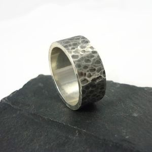 Oxidised Sterling Silver Ring 6mm - rings