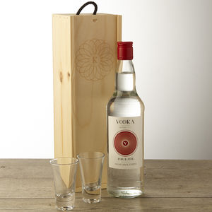 Personalised Vodka And Keepsake Wooden Box