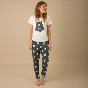 Bear Hugs Mama Matching Family Pyjamas With T Shirt - women's fashion