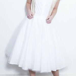 50's Midi Skirt With Petticoat - women's fashion