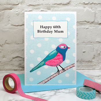 'Bird' Personalised Birthday Card