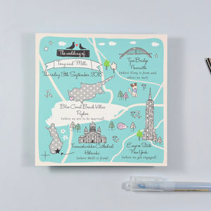 Bespoke Map Wedding Invitation
