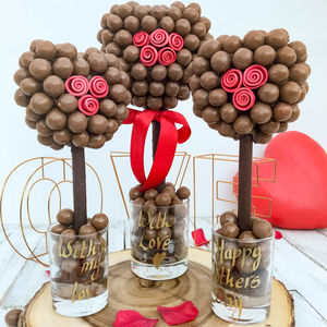 Malteser Chocolate Heart Red Rose Tree