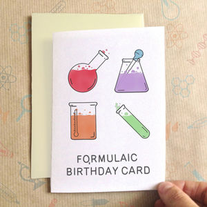 Personalised Formulaic Birthday Card