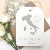 Location Wedding Abroad Save The Date Luggage Tag - weddings
