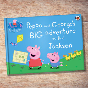 Personalised Peppa Pig 'Big Adventure' Book - winter sale