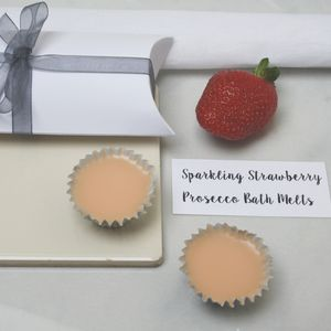 Sparkling Strawberry Prosecco Bath Melt Duo
