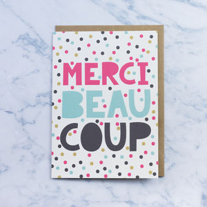 'Merci Beaucoup' Thank You Card - what's new